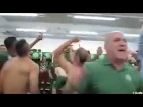 Chapecoense players celebrating reaching the Copa Sudamericana final before the crash