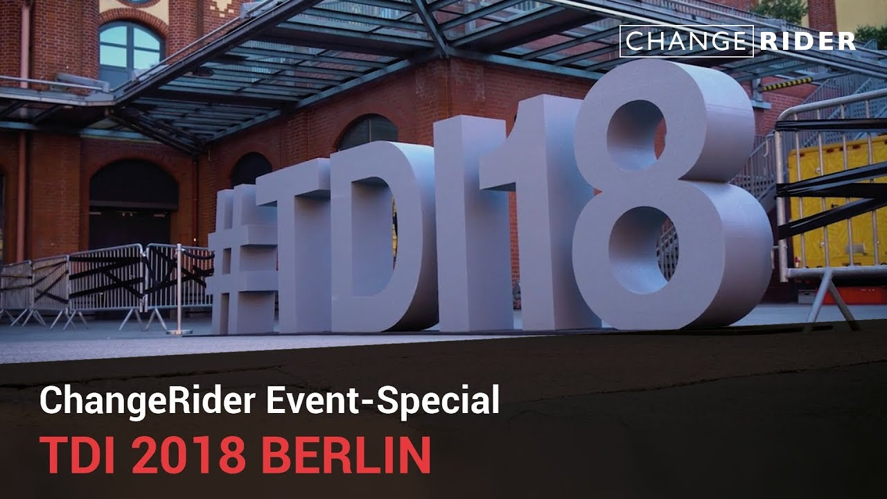 ChangeRider TDI-Special zum digitalen Wandel mit Angela Merkel, Christian Lindner, Patrice Bouédibéla u.W.