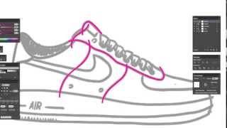 How to draw Nike Air Force shoes