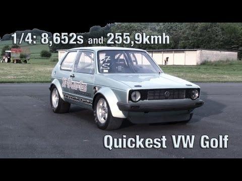 16Vampir VW Golf MK1 1000HP 4Motion new VW Golf world record!