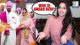 Angad Bedi's Ex Nora Fatehi Reacts ANGRILY To His Marriage With Neha Dhupia | LehrenTV