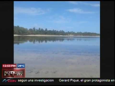 Explican fenómeno retiro del mar en Samaná