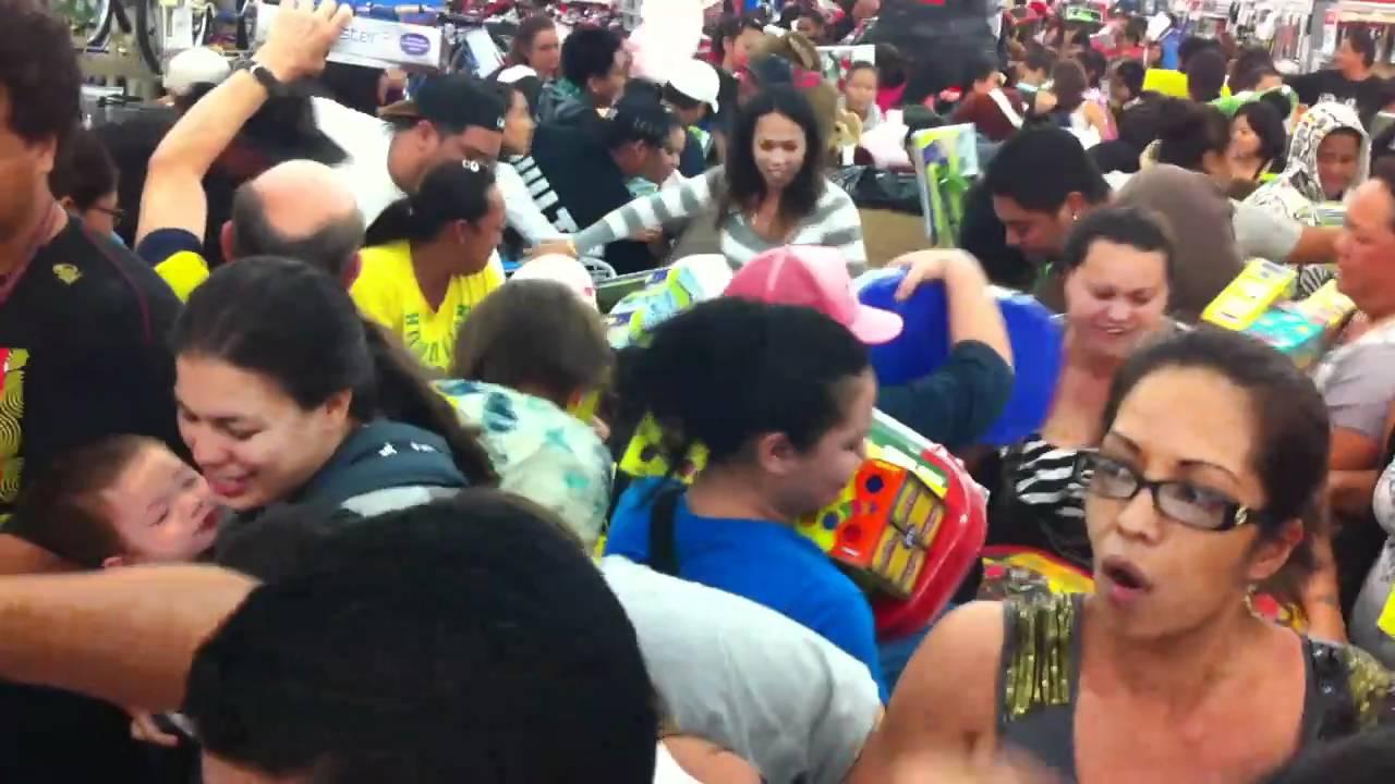 Black Friday Midnight Arrives And Chaos Begins At Walmart