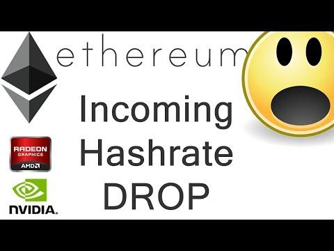 Incoming Ethereum Hashrate Drop!
