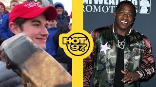 Adrien Broner Goes Off On Jim Gray + Teenagers Mock Native American In MAGA Hats   [VIDEO]