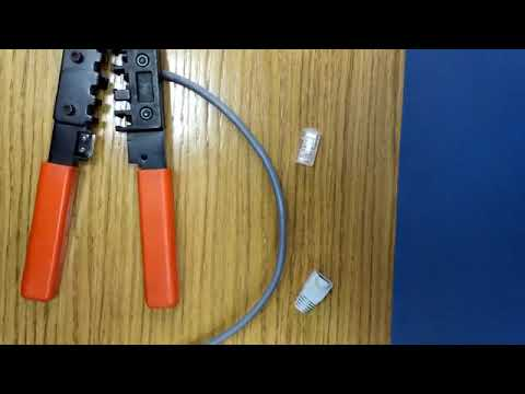 How to make patch cable (Ethernet cable) easily