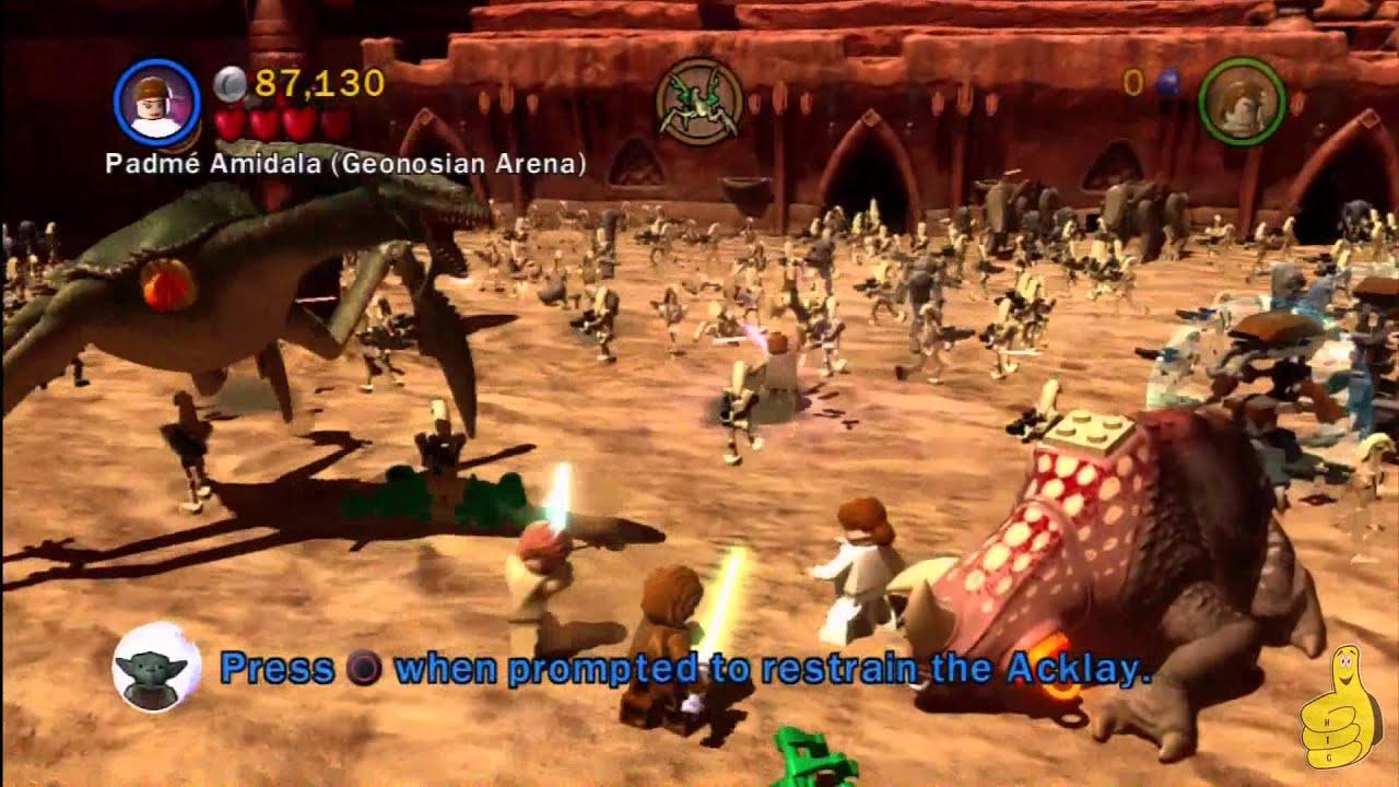 Lego Star Wars 3 The Clone Wars Geonosian Arena Prologue Story