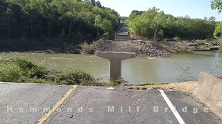 Hammonds and James Bridges after flooding in MO 2017