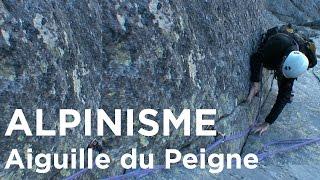 Aiguille du Peigne Les lépidoptères et voie normale Chamonix Mont-Blanc alpinisme escalade - 8019