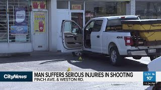 Man suffers serious injuries in shooting