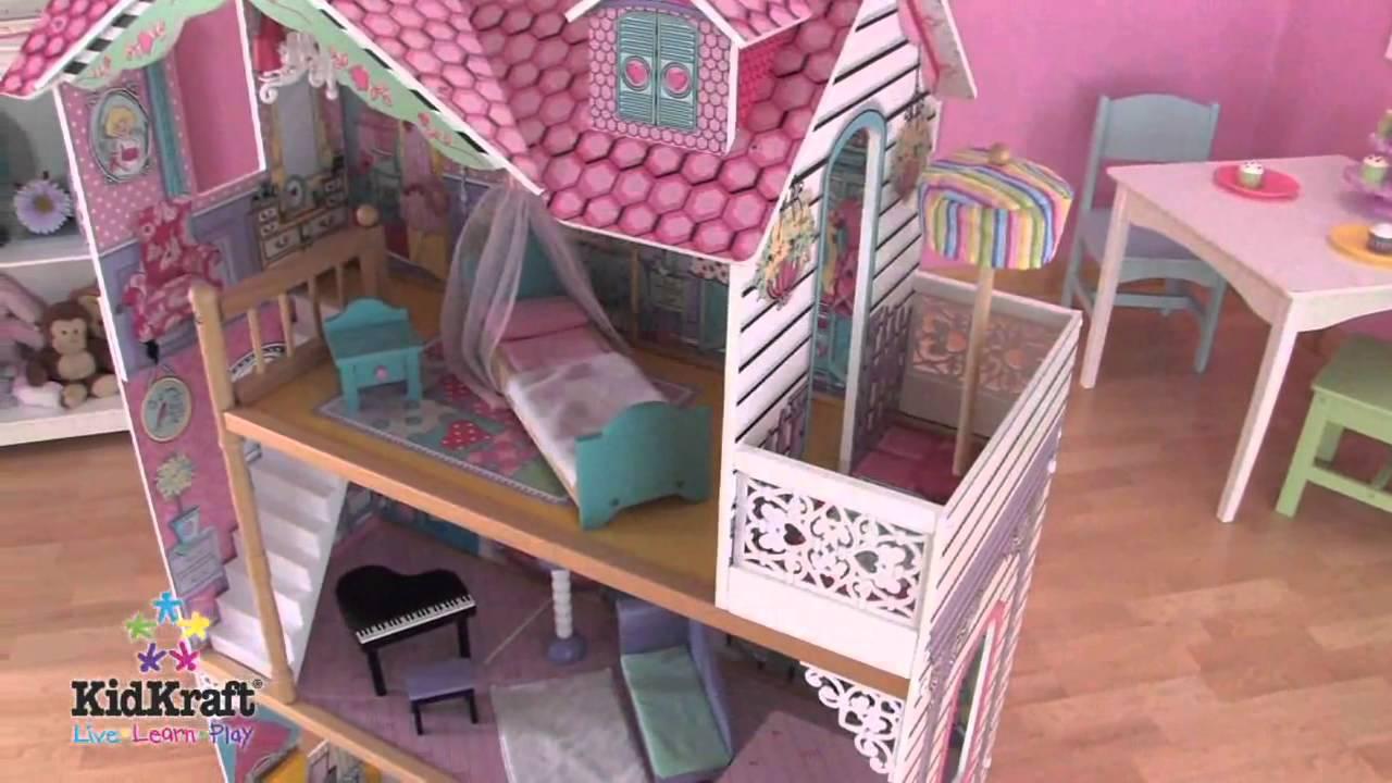 Кукольный домик для Барби с мебелью Магнолия KidKraft 65839 HD .