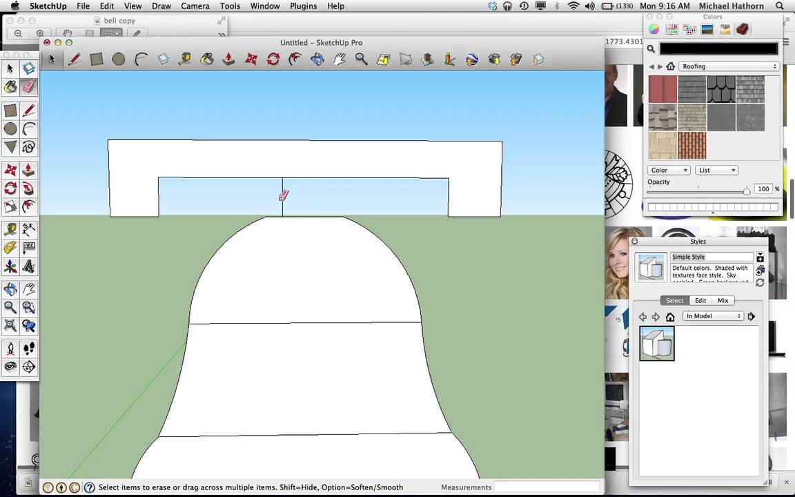 how to make a bell in sketchup