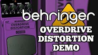 Behringer Overdrive Distortion Demo
