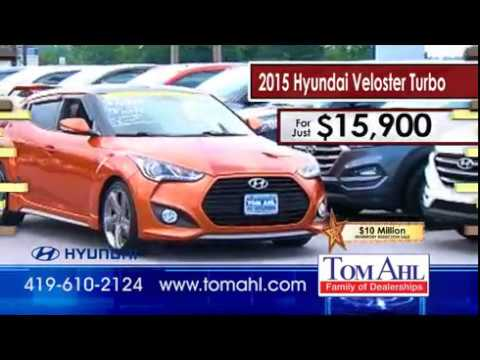Tom Ahl Lima Ohio >> Tom Ahl Hyundai S 10 Million Inventory Reduction Veloster