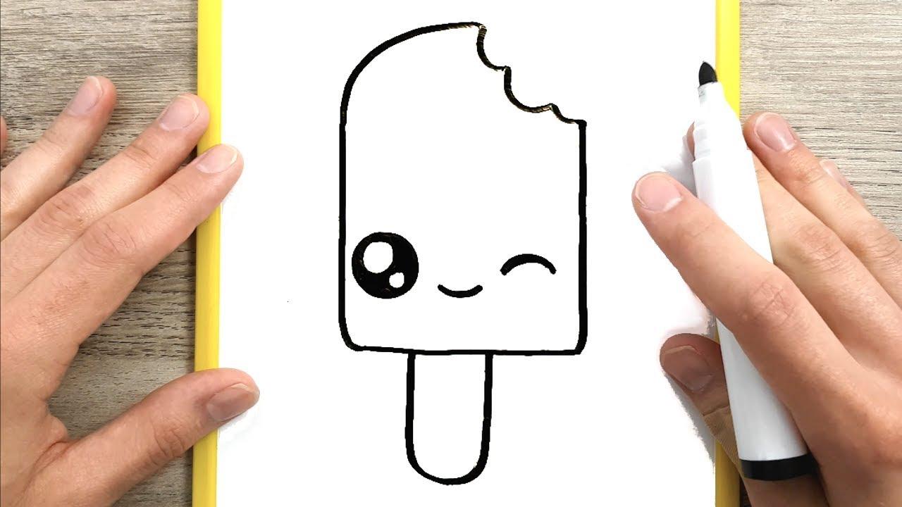Come disegnare un ghiacciolo kawaii disegni facili youtube for Immagini di disegni facili