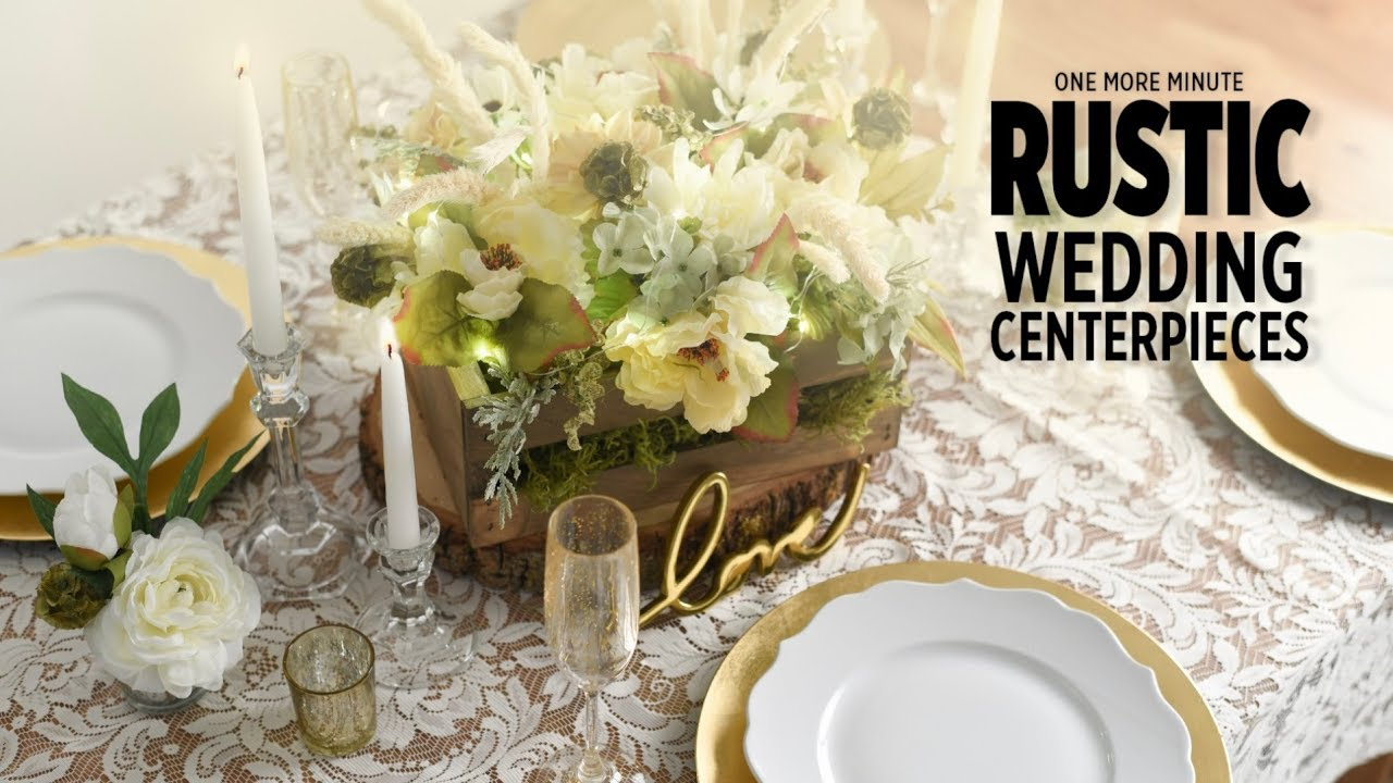 Rustic Wedding Centerpieces.One More Minute Rustic Wedding Centerpieces