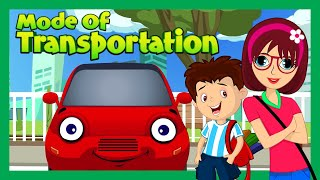 Learning Videos For Toddlers | Modes of Transport for Children | Kids Learning | Kids Hut