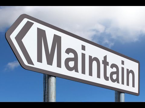 Word for Wednesday: Maintain