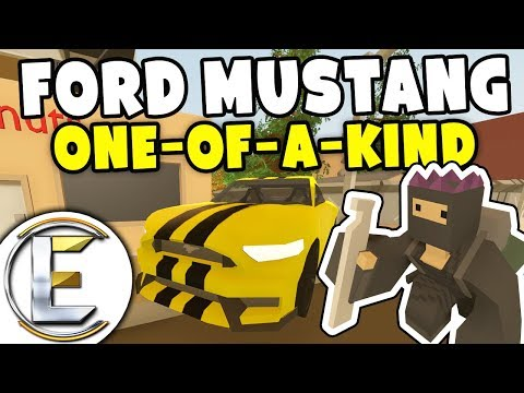 Robbing A $250,000 One Of A Kind Ford Mustang - Unturned Thief Roleplay Story (Part 1)