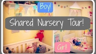 Nursery Tour!  Boy + Girl Shared Room!