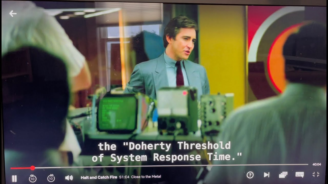 Download Doherty Threshold - value of rapid response time - Halt and Catch Fire, Season 1, Episode 4