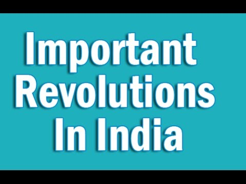 Important Revolutions In India in English | Static GK for CLAT SSC Banking IBPS, SBI, RRB PO/Clerk