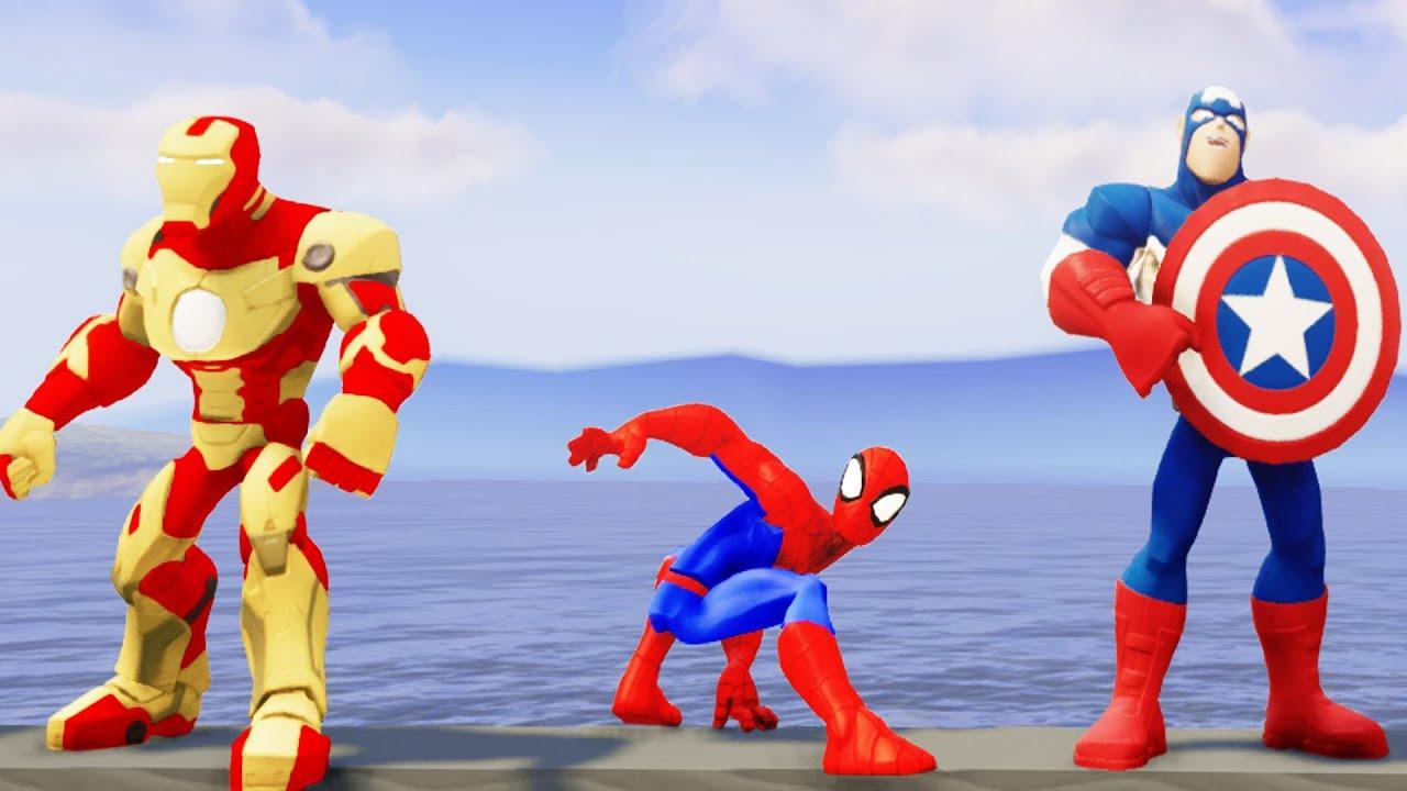 Мстители и Тачки: Человек Паук - Железный человек ...