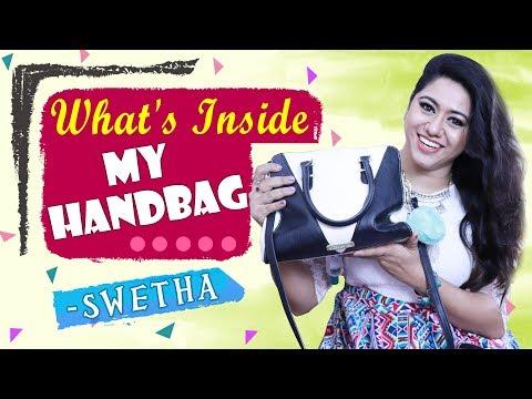 What's Inside My Handbag With Actress, Sun Tv Anchor, Zee Tamil And Vijay Tv Dancer Swetha