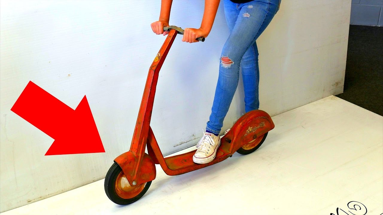100 Year Old Scooter Tricks Youtube