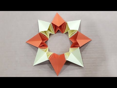 Origami Magic Circle Fireworks - How to Make an easy DIY Origami Magic Circle Fireworks with paper.