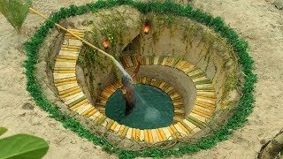 Build Most Secret Underground Swimming Pool and Underground House
