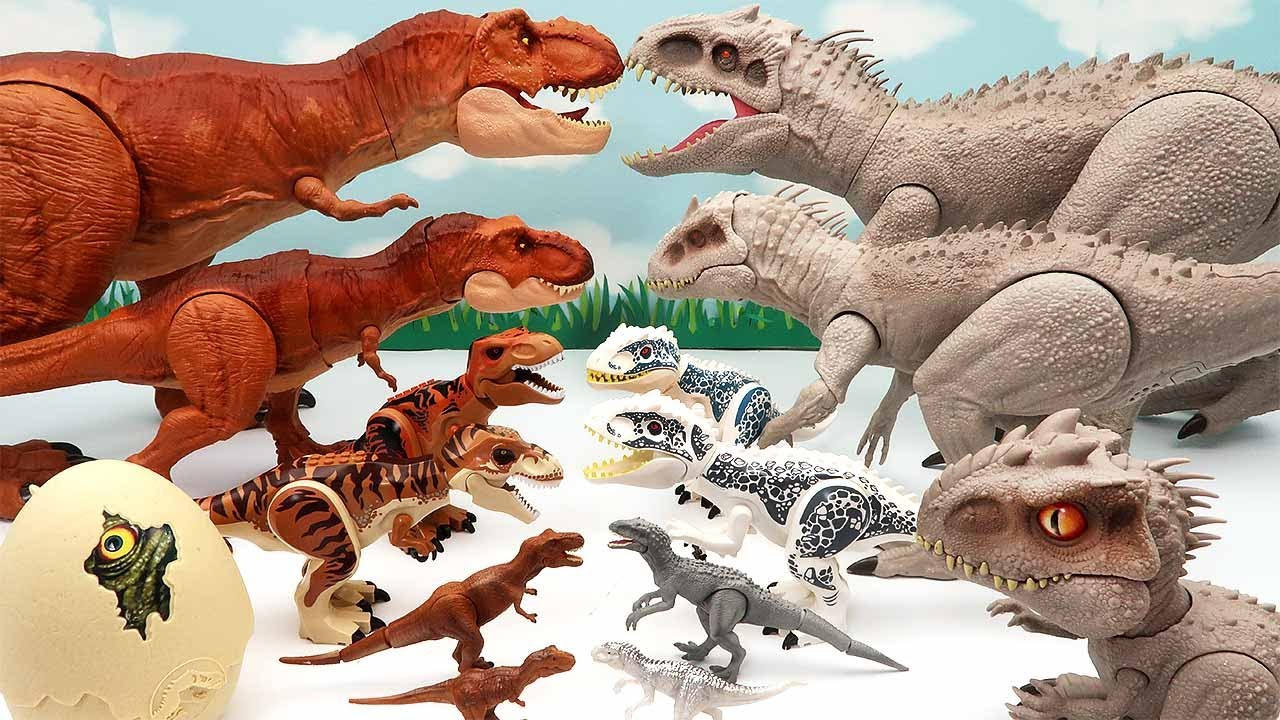Download 6 Tyrannosaurus VS 6 Indominus! Jurassic World Dinosaurs