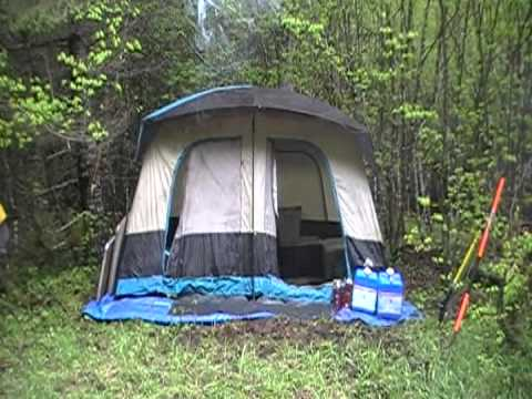 cabin tent setup instructions