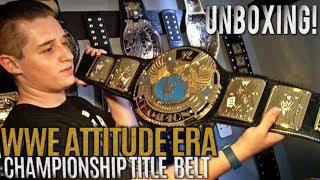WWE ATTITUDE ERA CHAMPIONSHIP TITLE BELT UNBOXING!!