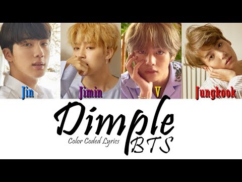 BTS (방탄소년단) - Dimple 보조개 (Color Coded Lyrics)