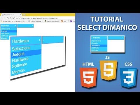 Select Dinamico Javascript - HTML