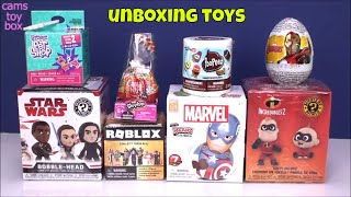 Unboxing Surprise Toys Incredibles 2 Star Wars Roblox Shopkins Egg Marvel Blind Boxes Review Kids