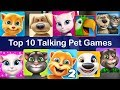 Top 10 Talking Pet Games For Android - Like Talking Tom Cat