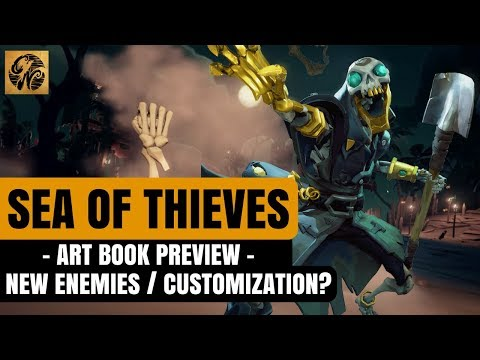Sea of Thieves Art Book PREVIEW - NEW Enemies / Character Models/ Ship Customization #SeaofThieves