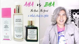 Esthetician Skincare Advice - AHA vs BHA / Which is best for Acne, Wrinkles, & Discoloration