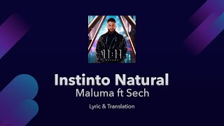 Maluma - Instinto Natural ft Sech Lyrics English and Spanish - English Lyrics Translation