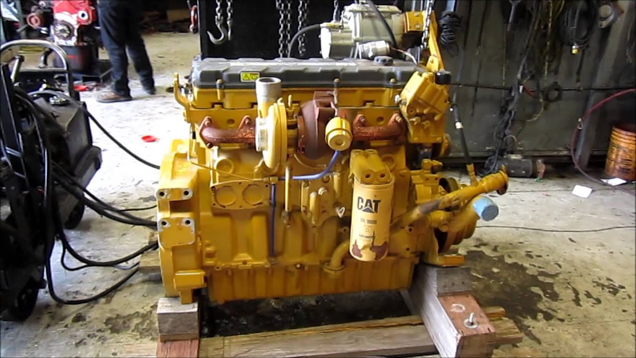 Caterpillar C9 Acert Engine Running