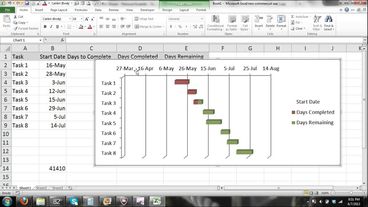 Microsoft excel gantt chart tutorial excel 2010 part 2 automated microsoft excel gantt chart tutorial excel 2010 part 2 automated progress gantt chart tu youtube geenschuldenfo Choice Image
