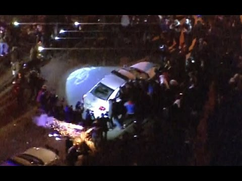 ferguson-shooting:-aerial-footage-of-unrest-after-grand-jury-decision
