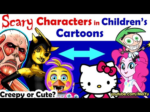 Scary Characters In Childrens Cartoons 2 - Art Challenge | Fun Friday Reimagine Art Challenge Mei Yu