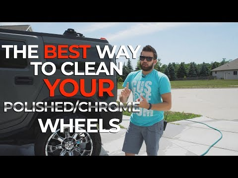 The BEST way to clean YOUR polished/chrome wheels!