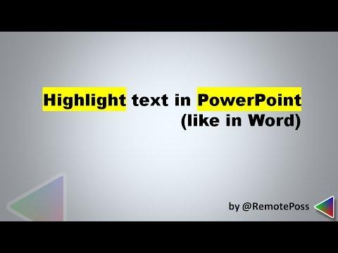 Cách đánh dấu văn bản trong PowerPoint (như trong Word) khi tạo slide