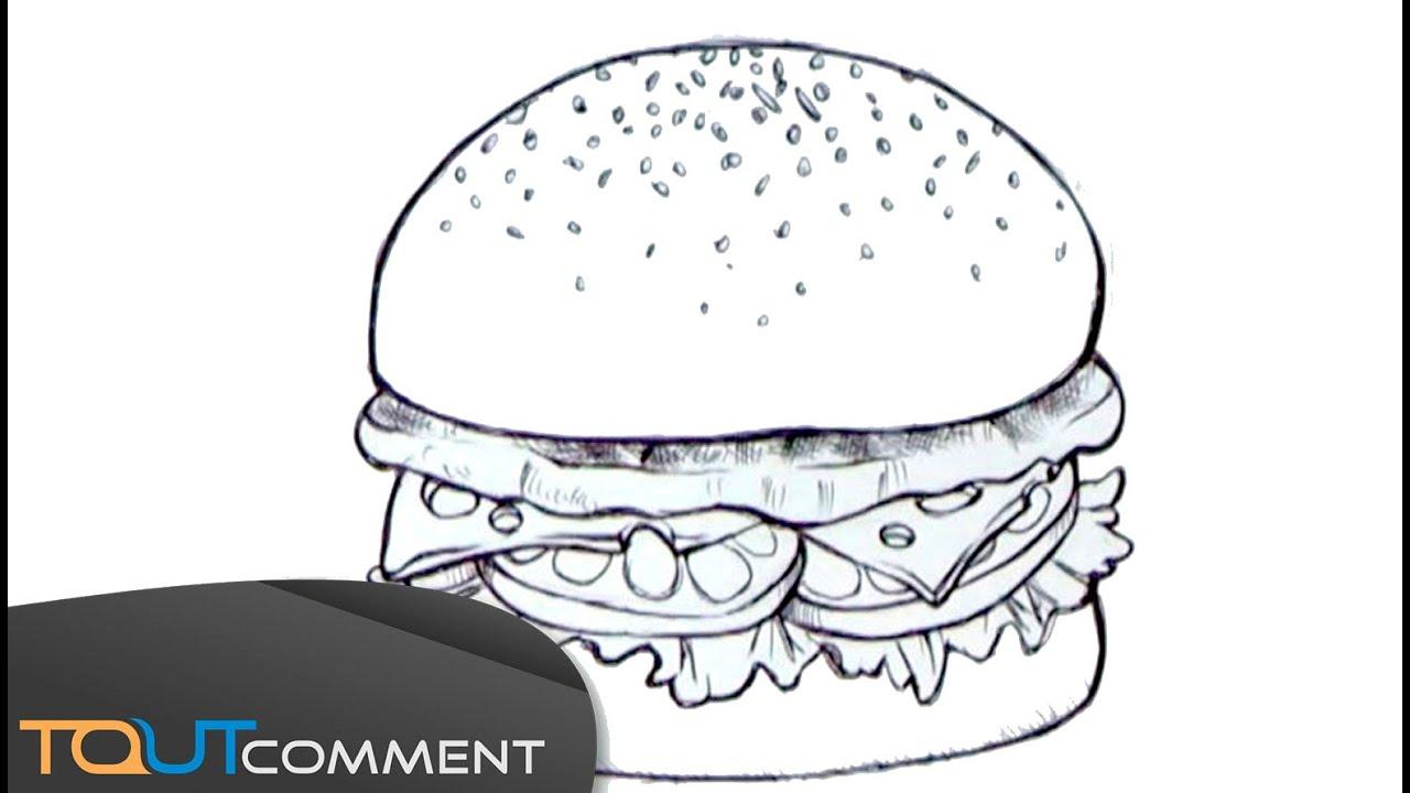 How To Draw A Burger Dessiner Un Hamburger Youtube
