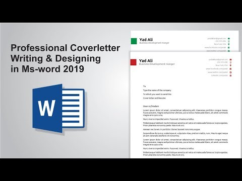 Creating Cover letter for resume in ms word 2019