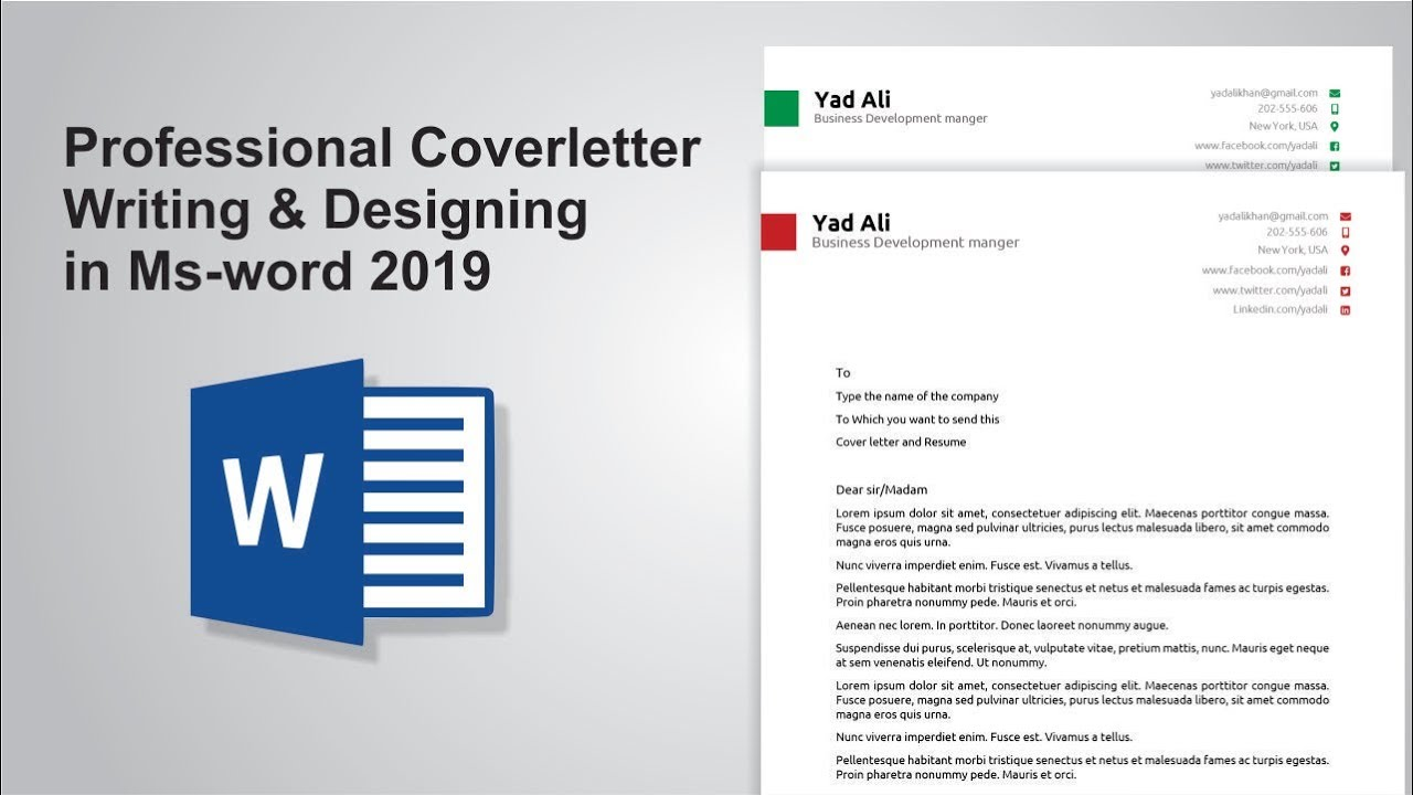 Word Template Cover Letter from i.ytimg.com